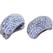 Christian Dior Diamante Vintage Signed Earrings