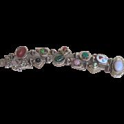 Victorian Revival Unusual Vintage Chunky Slide Bracelet