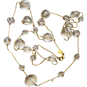 Anne Klein Couture 60 Inches Signed Lucite Ball Station Runway Vintage Sautoir  Necklace