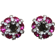 Warner Signed Vintage Rhinestone Earrings