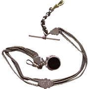 Victorian Gold Filled Watch Chain and Fob Assembled Bracelet