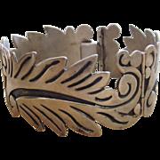 Alfredo Villasana Taxco Vintage Sterling Superior Signed Bracelet