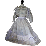 Antique two Piece Dress for Bisque Dolls
