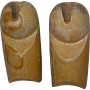 Early Wood upper Arms 4 Composition Doll Bodies