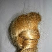 Vintage Curly Human Hair Blond wig