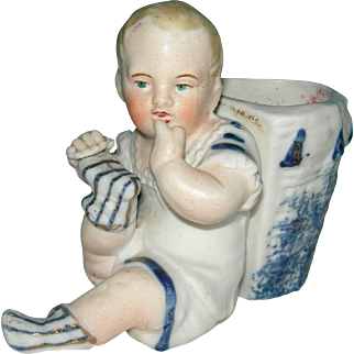 """3 1/2"""" tall Stone Bisque Baby Vase"""