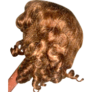 "7-8"" Center part Bangs Curls Mohair wig Gorgeous Chocolate color"