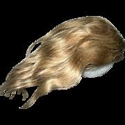 """11"""" Vintage Ash Brown Mohair Wig"""