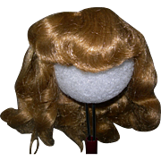 "11-12"" Vintage Golden Blond Saran Wig 4 HP & Composition Dolls"