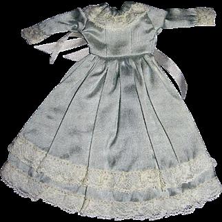 Handmade Pale Blue Silk Dress for Small China, Parian doll