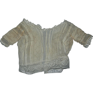 Antique Lace Guimpe for French Fashion