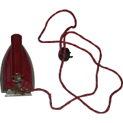 Vintage-Toy-Red-Iron-with-electric-cord