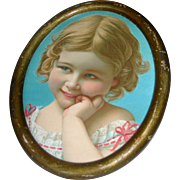 Too cute!!!Lovely small Picture of Google eyed Girl in Frame