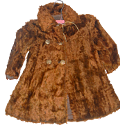 Chocolate Mohair Coat For Bisque Dolls