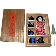 "3 1/4"" Tall Cute Little Japanese Girl with wigs and box"