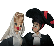 Spanish Couple Marca De Garantia cloth dolls
