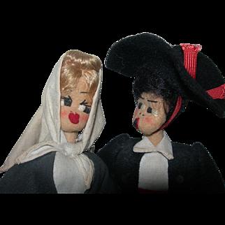 Spanish Couple Marca De Garantia cloth dolls