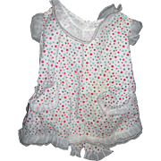 Darling Calico cotton Pinafore with ruffles.