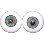 24MM Glass blown Blue eyes