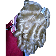 "Golden Blond Mohair wig 9-10"" Curls!!!"