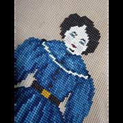 China Covered Wagon doll Needlepoint