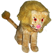 """Japanese Wind up Lion Toy 5 1/2"""" tall Clean"""