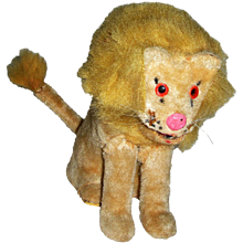 "Japanese Wind up Lion Toy 5 1/2"" tall Clean"