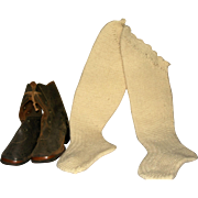 Victorian High Boots and Knitted stockings