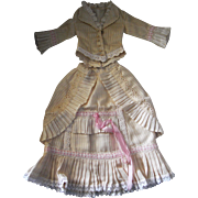 Cream & Pink Lady Doll Dress French Fashion styling