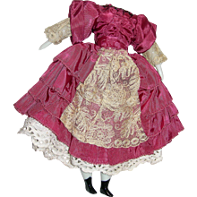Wonderful small body for China doll; flat feet & dress included!
