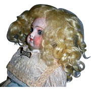 """7-8"""" Pale Blond Mohair side part Wig"""