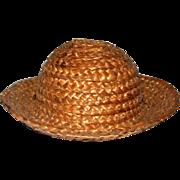Tiny Vintage Straw Hat; Vogue or Madame Alex