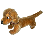 "6"" long Dachshund Mohair dog Steiff"