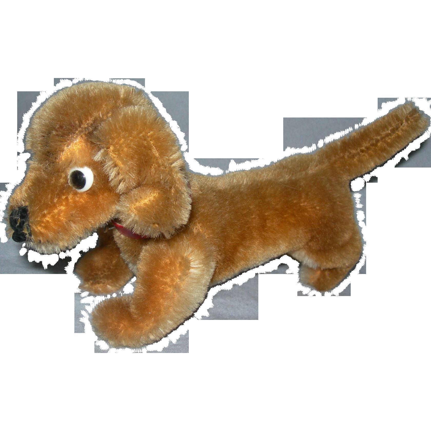 "6"" long Dachshund Mohair dog Steiff"