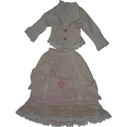 """Lovely Handmade French Fashion Style Dress/jacket for China, Parian and lady dolls, 18-20"""""""
