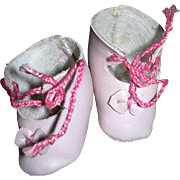 Dust Pink Leather shoes 4 Dolls