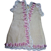 """French styling Dress for All bisque doll 8-9"""" tall"""