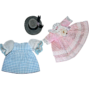 Tiny Doll Dresses & hat