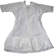 Vintage Cotton textured Dress with lace, perfect for a cloth or leather body doll