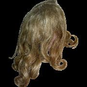 Lt Brown Human Hair wig Vintage with curls