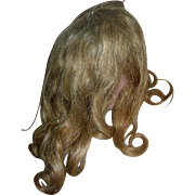 Lt Brown Human Hair wig Vintage with curls