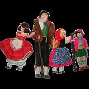 Heidi Family of Cloth dolls