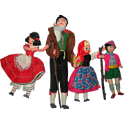 Heidi Family of Cloth dolls Baps dolls 3 out of 4