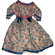 """Dress for Bisque lady From antique materials 18-20"""""""