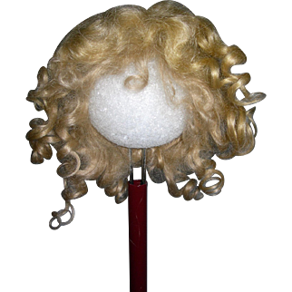 10' Toddler Golden blond wig Curls and Mohair!