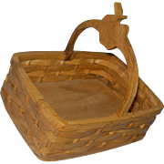 "Wooden Basket for 20-30"" doll accessory Perfect for Red Riding Hood"