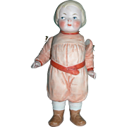 """6"""" Bobbed hair Molded Clothing All bisque Doll"""