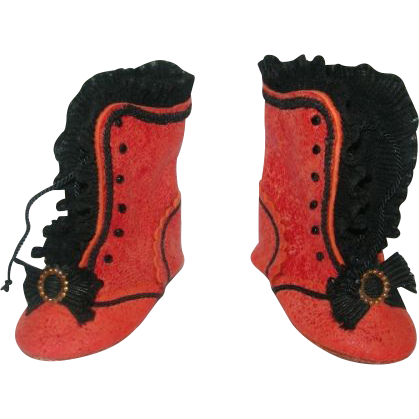 Sweet Leather handmade Boots for Bisque dolls