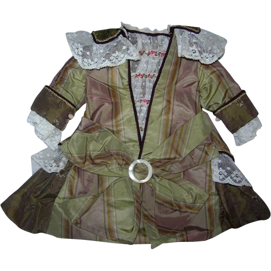 """French styled dress for 14"""" Bisque doll"""