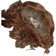 All-Bisque Reddish Brown Mohair wig 6""